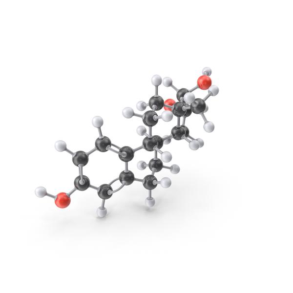 Estrogen Estriol Molecule PNG & PSD Images