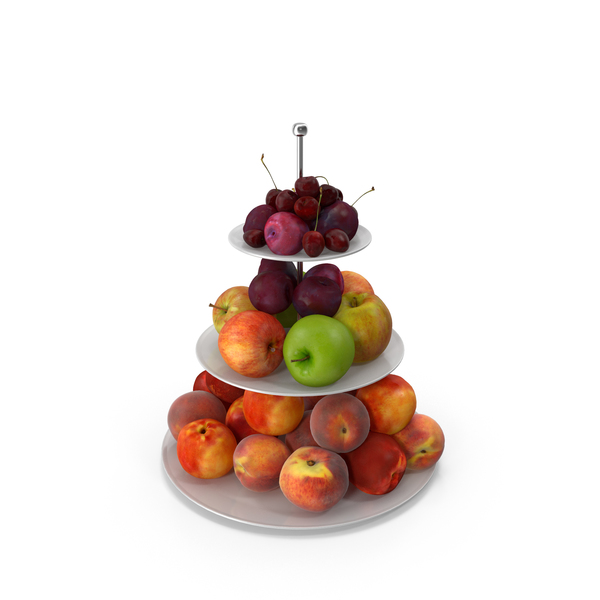 Fruit Basket: Etagere Fruits Round PNG & PSD Images