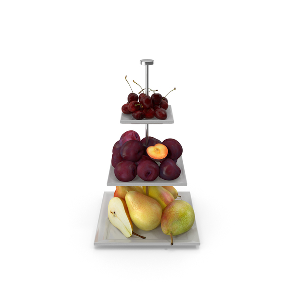 Fruit Basket: Etagere Fruits Square PNG & PSD Images