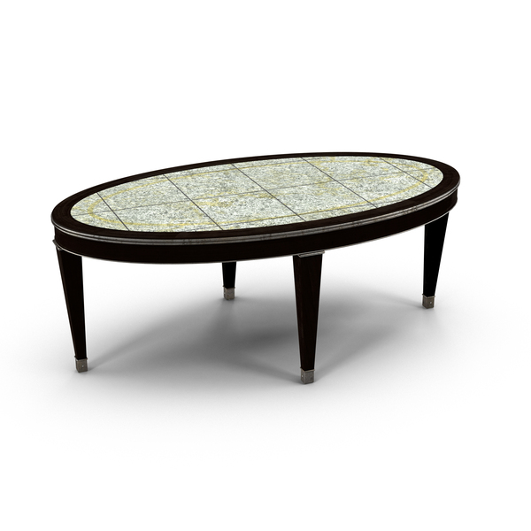 Ethan Allen Winston Oval Coffee Table PNG & PSD Images