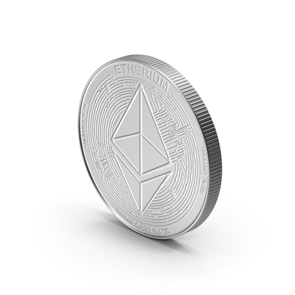 Ethereum ETH Coin Silver PNG & PSD Images