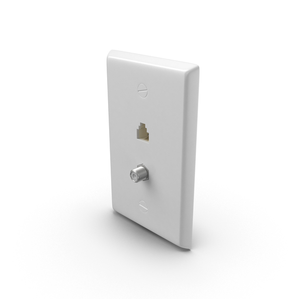 Electrical Panel: Ethernet Wall Socket PNG & PSD Images