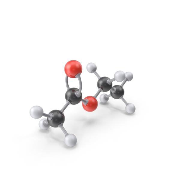 Ethyl Acetate Molecule PNG & PSD Images