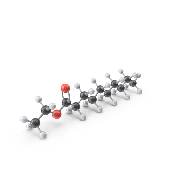 Ethyl Decanoate Molecule PNG & PSD Images