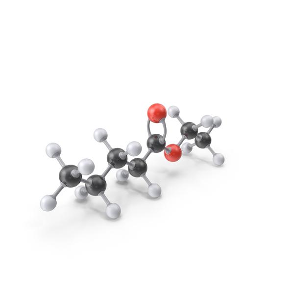Ethyl Pentanoate Molecule PNG & PSD Images