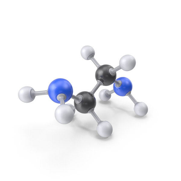 Ethylenediamine Molecule PNG & PSD Images