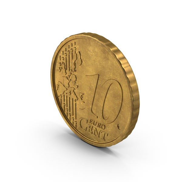 Euro 10 Cent Coin German Aged PNG & PSD Images