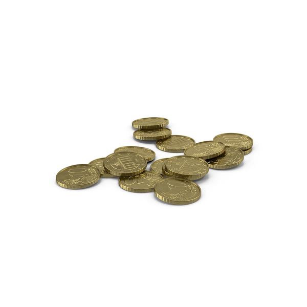 Euro 10 Cent Coin Pile Object