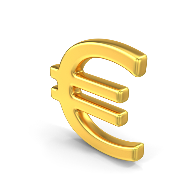 Euro Sign Gold PNG & PSD Images