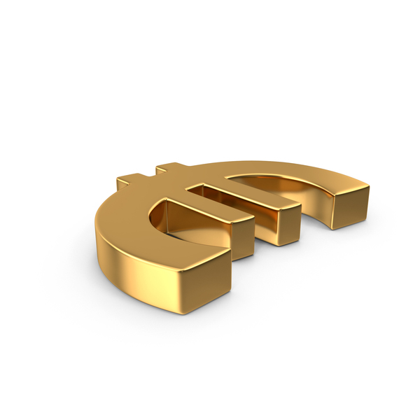 Euro Sign Gold Side PNG & PSD Images