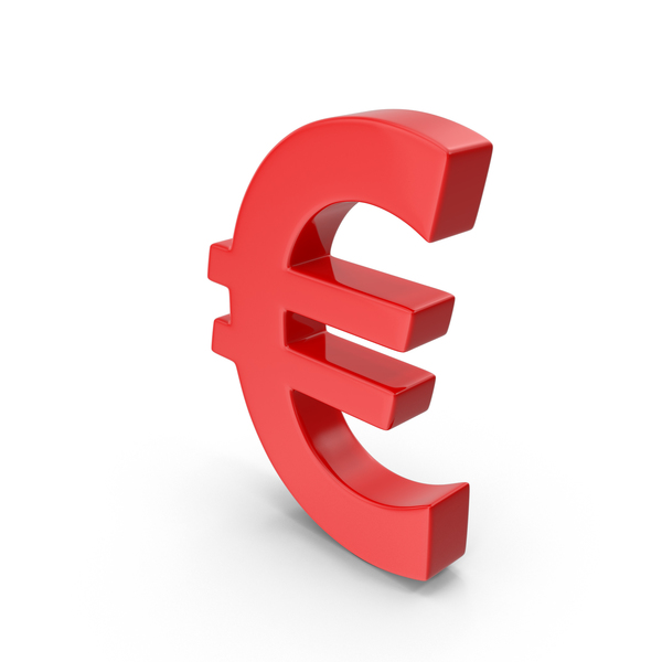 Euro Sign Red PNG & PSD Images
