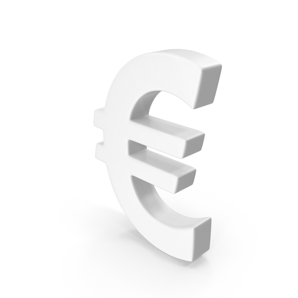 Euro Sign White PNG & PSD Images