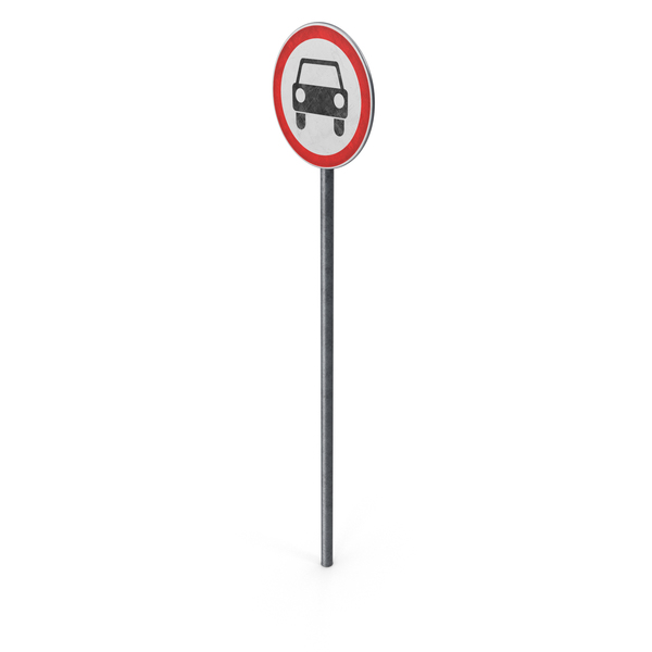 European Road Sign No Motor Vehicles PNG & PSD Images