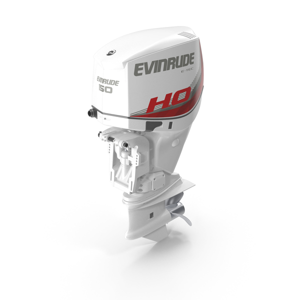Evinrude E-tec Outboard Engine PNG & PSD Images
