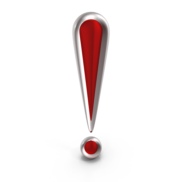 Exclamation Mark Red Glass PNG & PSD Images