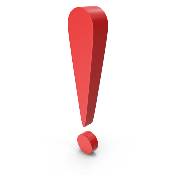 Punctuation: Exclamation Mark Red PNG & PSD Images