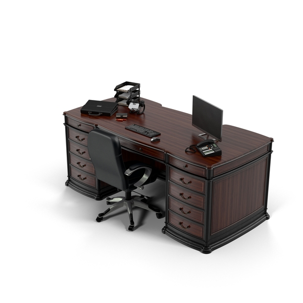 Office: Executive Desk PNG & PSD Images