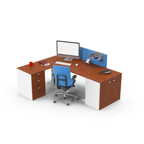 Workstation: Executive Desk Set PNG & PSD Images