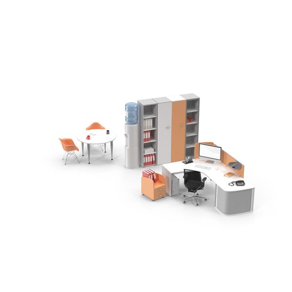 Furniture Collections: Executive Office Set PNG & PSD Images