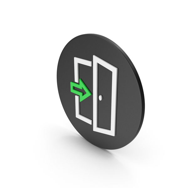 Sign: Exit Icon PNG & PSD Images
