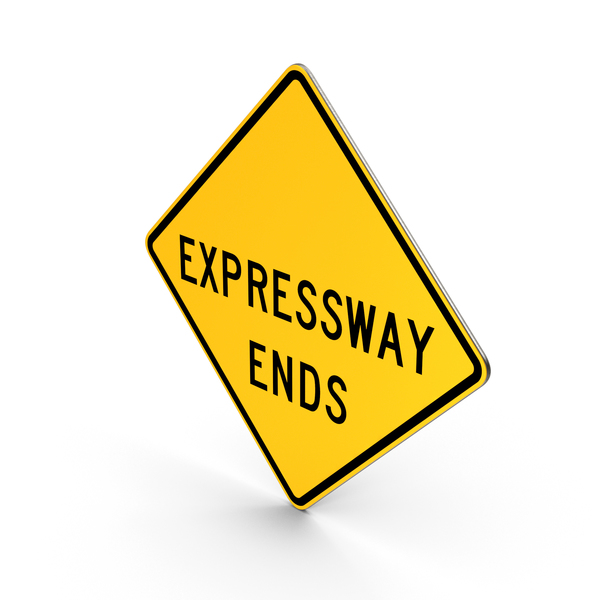 Expressway  Ends Road Sign PNG & PSD Images