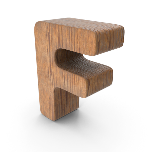F Wooden Letter PNG & PSD Images
