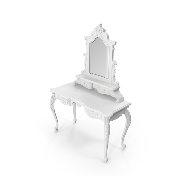 Fabulous & Baroque White Lady Desk PNG & PSD Images