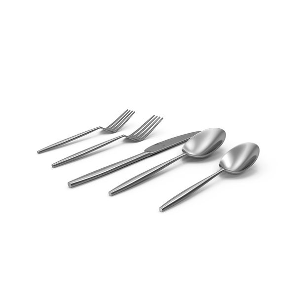 Facet Flatware Place Setting PNG & PSD Images
