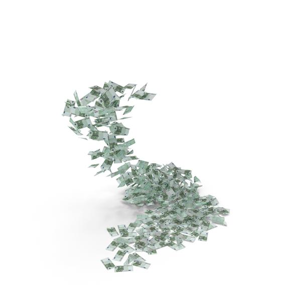 Falling 100 Euro Bills PNG & PSD Images