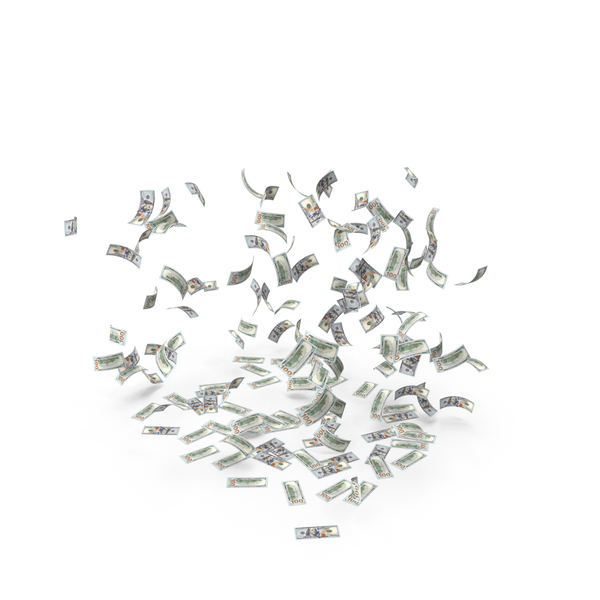 Currency: Falling Dollar Bills PNG & PSD Images
