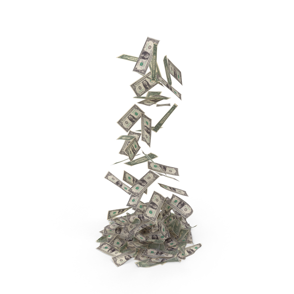 Falling Money Pile PNG & PSD Images