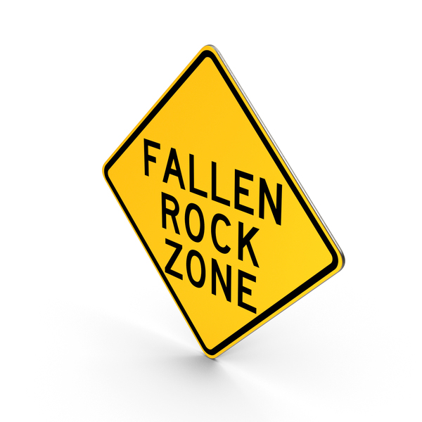 Falling Rocks New York State Road Sign PNG & PSD Images