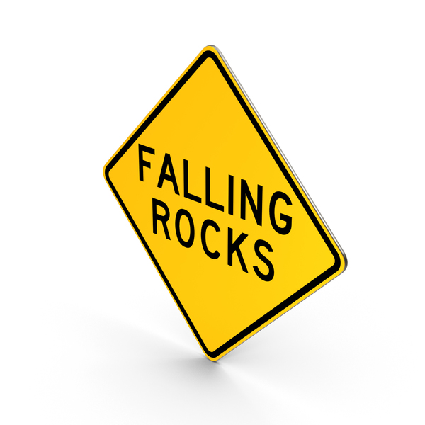 Falling Rocks Pennsylvania Hawaii Road Sign PNG & PSD Images