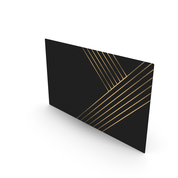 Office Supplies: Fancy Business Card Mockup Lines PNG & PSD Images