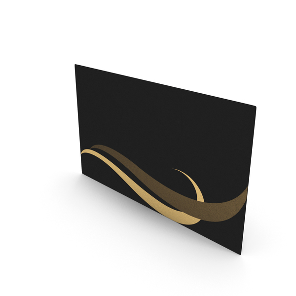 Office Supplies: Fancy Business Card Mockup Waves PNG & PSD Images