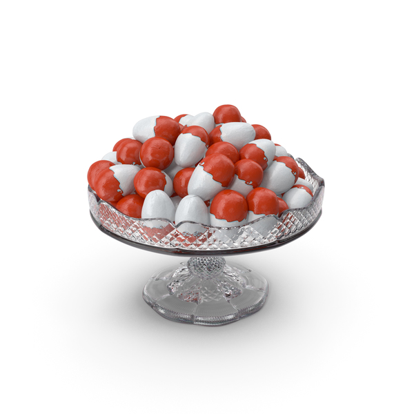 Fancy Crystal Bowl With Kinder Eggs PNG & PSD Images