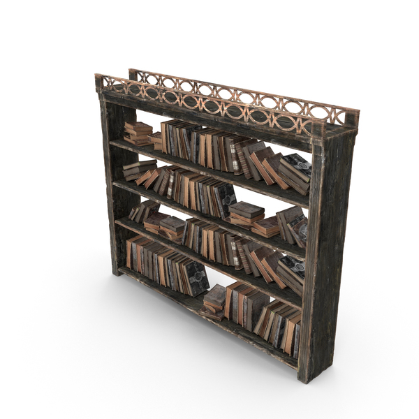 Fantasy Book Shelf PNG & PSD Images