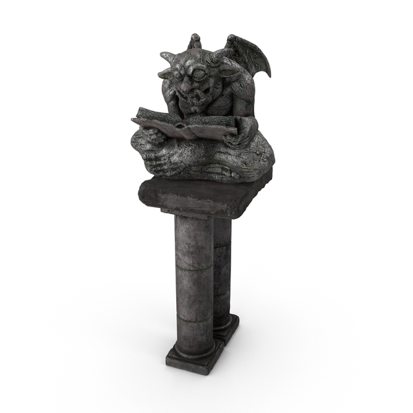 Fantasy Gargoyle Statue PNG & PSD Images