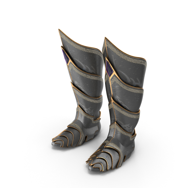 Fantasy Knight Boots PNG & PSD Images