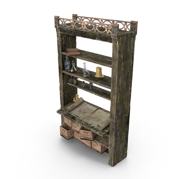 Fantasy Shelf PNG & PSD Images