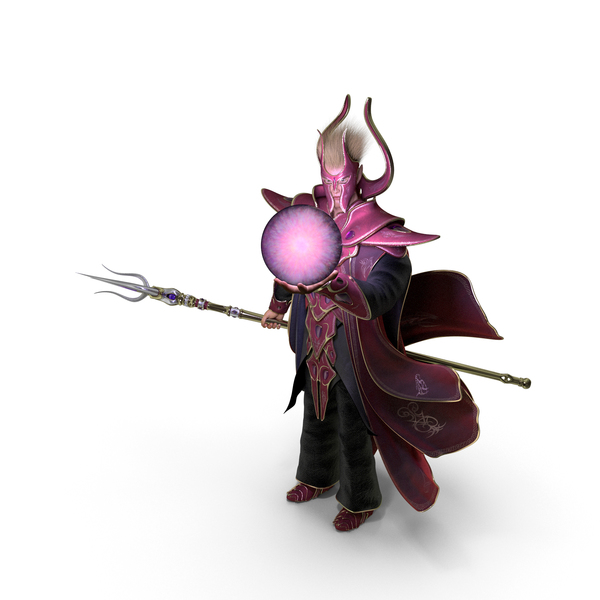 Wizard: Fantasy Sorcerer Holding a Magic Ball PNG & PSD Images