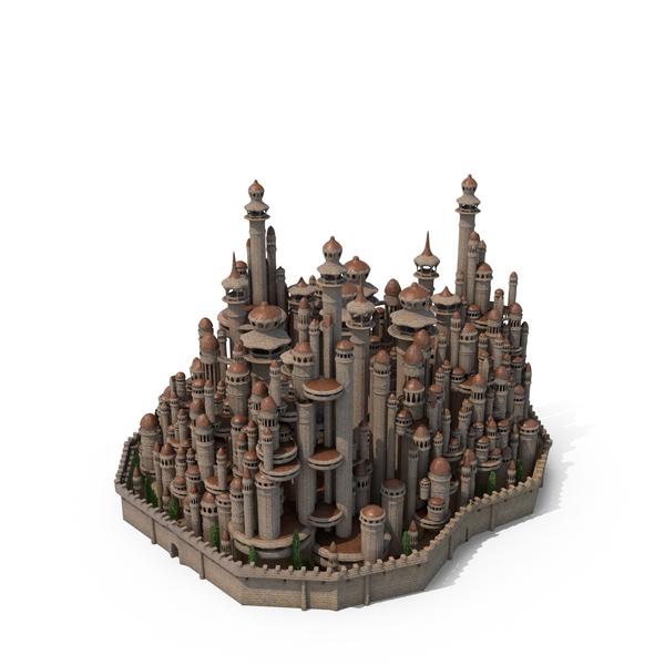 Castle: Fantasy tower City PNG & PSD Images