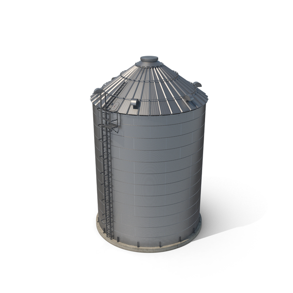 Farm Grain Storage Bin Object
