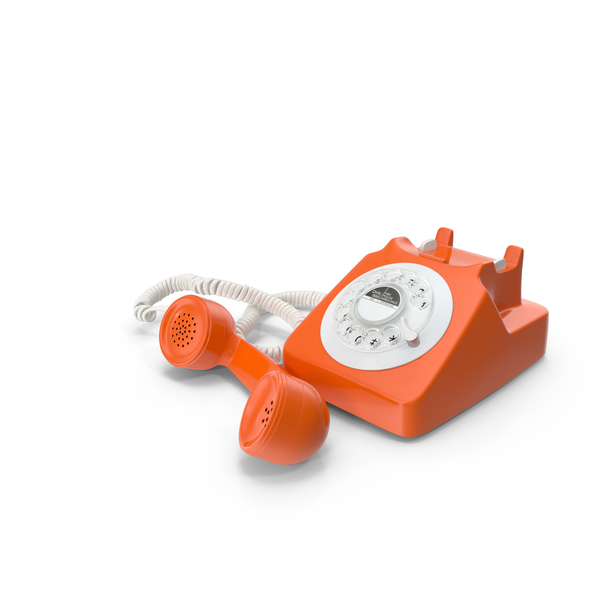 Fashioned Rotary Dial Phone PNG & PSD Images