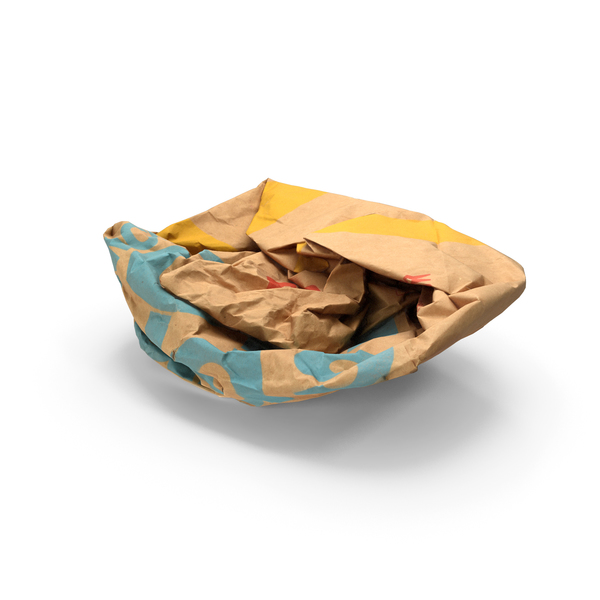 Paper Bag: Fast Food Packaging Litter PNG & PSD Images