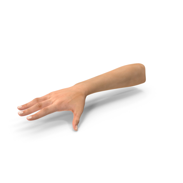 Female Arm with Short Nails PNG & PSD Images