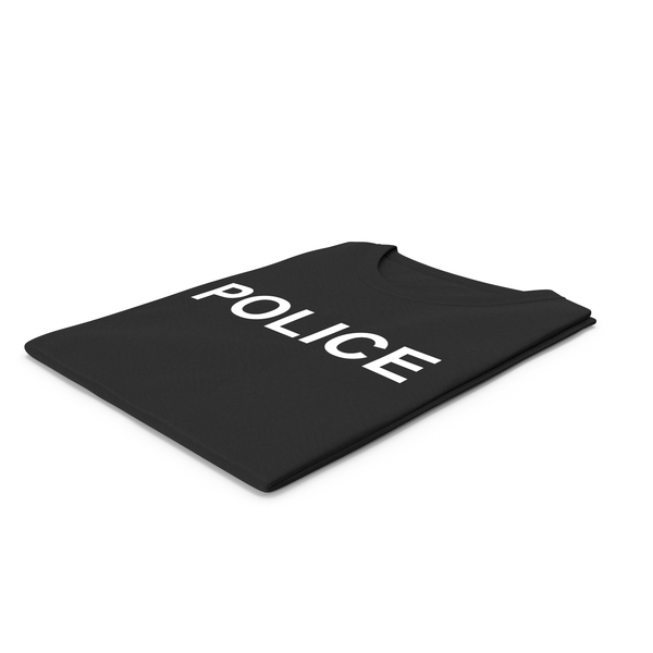 Tank Top: Female Crew Neck Folded Black Police PNG & PSD Images