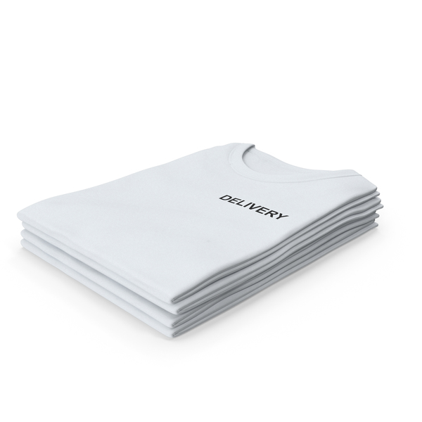 Tank Top: Female Crew Neck Folded Stacked White Delivery PNG & PSD Images