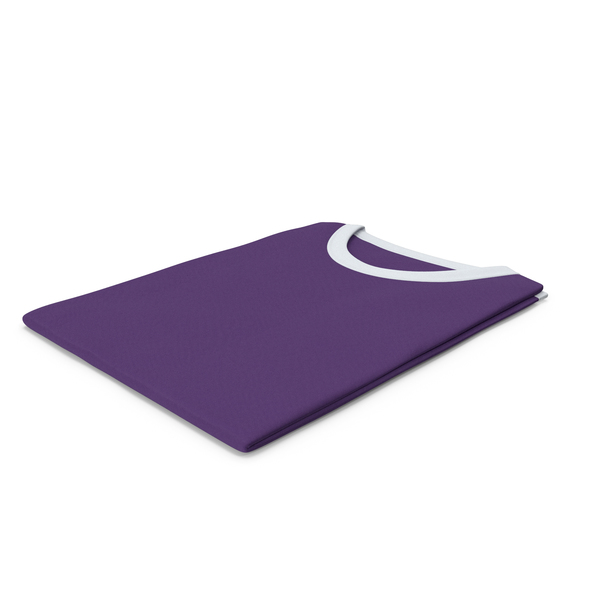 Tank Top: Female Crew Neck Folded White and Purple PNG & PSD Images
