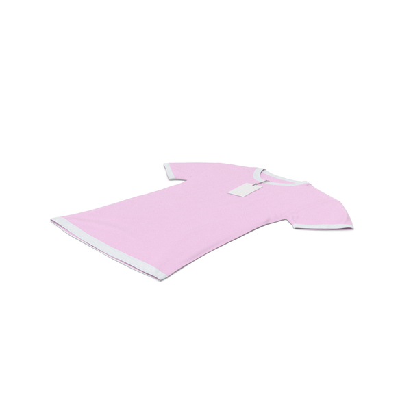 Female Crew Neck Laying With Tag White and Pink PNG & PSD Images